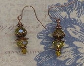 Tansy Yellow Crystal Blossom Earrings