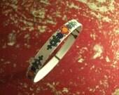 Reserved for Rebecca: Vintage Painted Enamel Bracelet