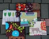 Waterproof Pouch Cosmetic Makeup Bag or Wipes Wet Bag Designer Fabric Etsuko Furuya