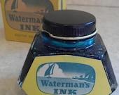 SALE 20 percent off Watermans south sea blue antique ink bottle