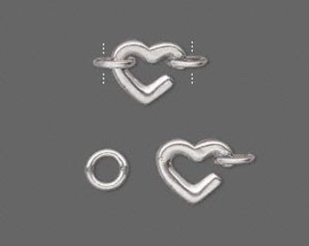 Sterling Silver Heart and Ring Clasp