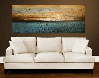 art painting,    canvas art,  landscape painting,turquoise , blue, brown, white,  wall decor, oil painting, abstract painting