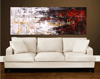 "72"" large abstract painting original ,,contemporary art from jolina anthony signet express shipping"