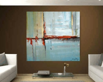 "Art Painting 60""x 60"" large painting  Abstract painting from  Jolina Anthony a beautifull art wall art decor"
