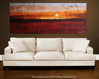 """Art Painting  72""""x30"""", abstract  painting, Acrylic painting, oil painting ,Wall Decor, wall hanging, Jolina Anthony"""