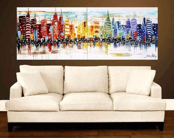 "multicolor painting   72"" abstract painting, acrylic painting, oil painting , original painting"