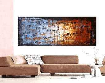 "Painting 72"" abstract  painting, Acrylic painting ,Wall Art,,wall hanging from   Jolina Anthony"