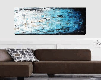 """Art Painting  HUGE 72""""x 30""""  abstract  painting , Acrylic painting,   from  Jolina Anthony"""