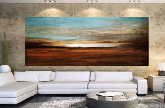 DREAMLAND Original ready to hang xxl large unique  abstract landscape painting from listed artist Jolina Anthony,idelal for your sofa