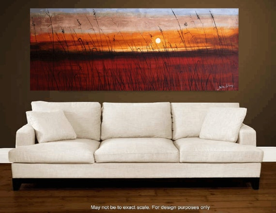 "custom order 72""xxl large  abstract landscape painting from  jolina anthony absolutely unique painting technique"