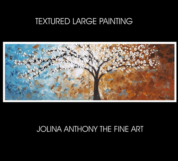"72"" ready to hang xxl large  abstract landscape painting from  jolina anthony absolutely unique painting technique  made to order"