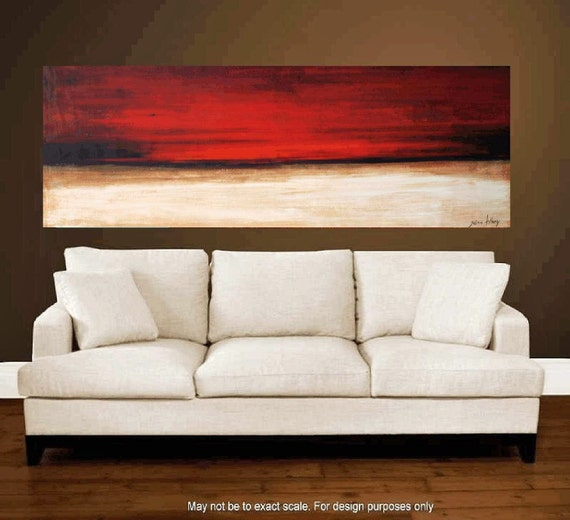 """Original xxl 72"""" Large abstract Landscape Painting from listed Artist Jolina Anthony,fast and free shipping"""