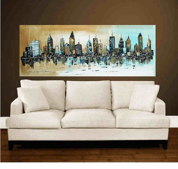 """72""""xxl City large abstract textured painting original , from jolina anthony signet  express shipping"""