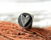 Heart Metal Design Stamp - Solid Elite Series Design Stamp - SKINNY HEART - DIY Hand Stamped Jewelry Tool