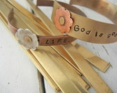 "6"" x 1/4"" BRASS 16g Bracelet Blanks -10 Pack - Brass Bracelet Blank for Hand Stamped Cuff - Personalized Metal Cuff Blank - Jewelry Stamping"