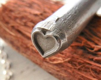 6mm Heart Design Stamp - Metal Stamp for Hand Stamped Jewelry - Metal Design Stamp - Metal Stamping Jewelry Craft Supply
