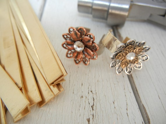 "6"" x 1/4"" BRASS 20g - Bracelet/Ring Blanks - 5 Pack - Metal Stamping Blank"