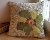 Lush Green Flower decorative pillow