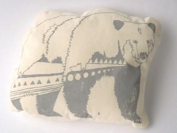 Decorative Animal Pillow - Grey Bear