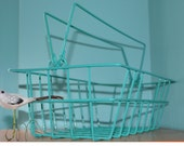Turquoise Wire Basket