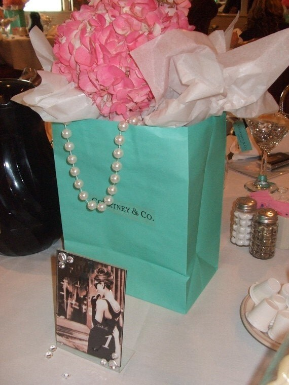 Custom Breakfast At Tiffany Inspired Bags Only Centerpiece