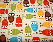 Bermuda Owls Fabric  by Ann Kelle from Urban Zoologie for Robert Kaufman- 1 yard