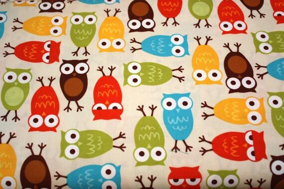 Bermuda Owls Fabric  by Ann Kelle from Urban Zoologie for Robert Kaufman- 1 yard