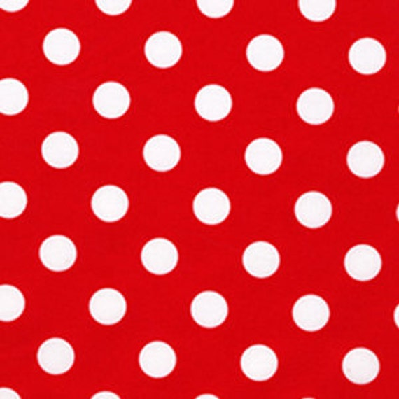 RESERVED FOR SANDRINE- Red Quarter Dot Fabric  by Michael Miller - 11 yards