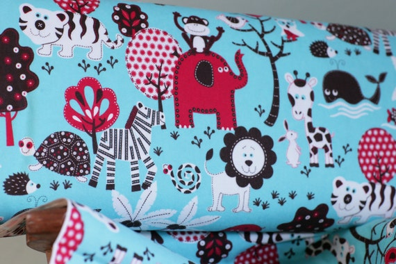 RESERVED for Katie- FLANNEL Jungle Fabric- Fluffy Jungle Fabric 4.5 yards