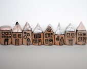 Strawberry milkshake and oatmeal miniature houses