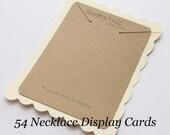 54 Necklace Display Cards-Jewelry Displays-Kraft and Cream-Custom Printing