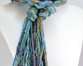 Northern Lights EcoCessory Skinny Scarf - Vegan, Eco Friendly