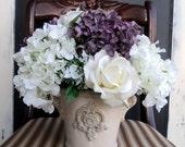 Beautiful Hydrangea And Rose Arrangement