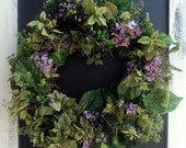 Fall Hydrangea And Blueberry Wreath