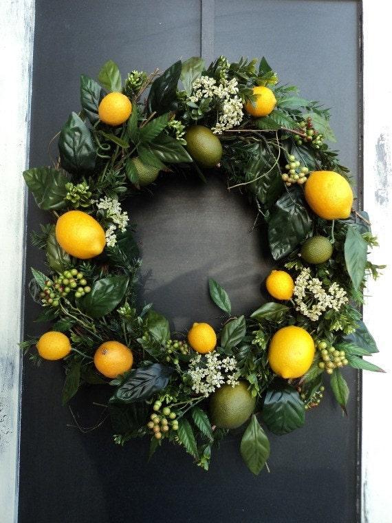 Lemon And Lime Wreath