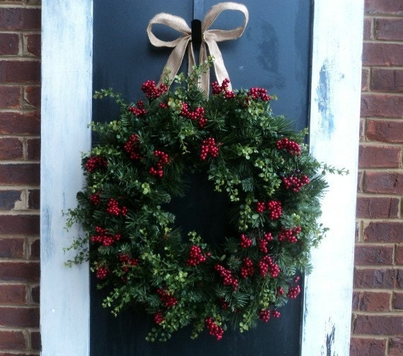 Berry And Burlap Wreath
