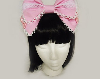 Sweet Lolita Hairbow Pink Mint Black Blue and More Choose Your Color