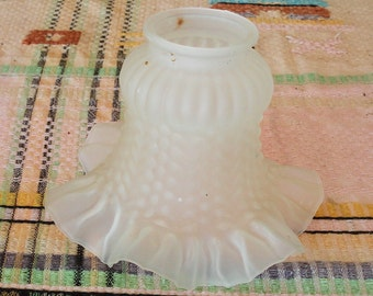 Vintage Frosted Glass Light Lamp Shade