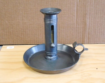 Vintage Danish PEWTER Candle Stick Holder
