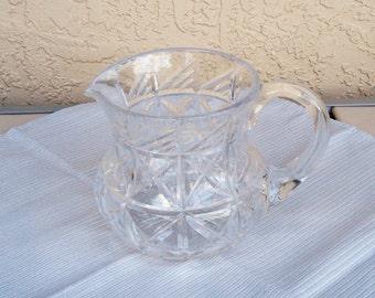 Art Glass 24% Lead Crystal Pitcher Jug.