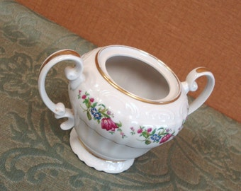 KYOTO Fine China MARGUERITE Pattern Sugar Bowl Dish Japan.
