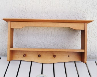 Wood Wall Mount Double Shelf.