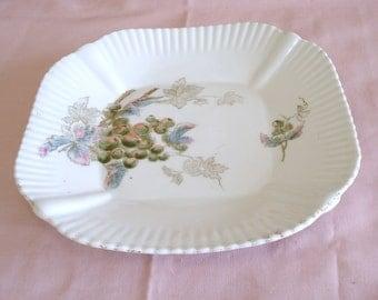Vintage CARLSBAD CHINA Austria Hand Painted Salad Plate.