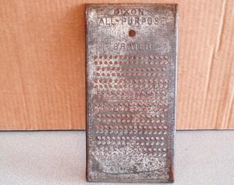 Antique DIXON'S All Purpose Manual GRATER.