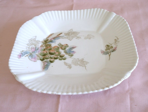 Vintage CARLSBAD CHINA Austria Hand Painted Salad Plate.
