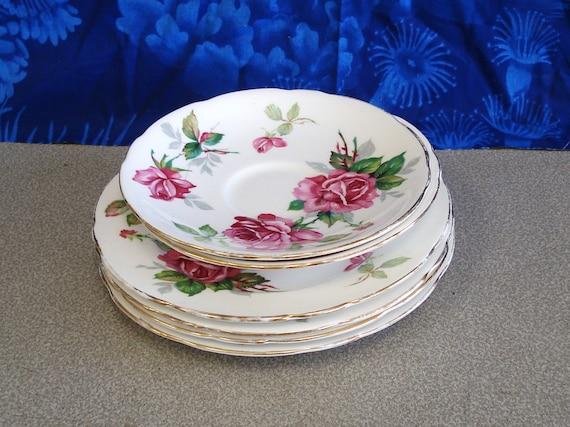Vintage Royal Stafford Bone China Berkeley Rose Dinnerware 6