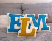 Eco Friendly Custom Monogram Wedding Gift Pillows - Reserved for Kaley Hanson