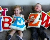 Personalized Children Custom Letter Pillow Eco Friendly