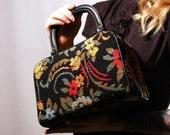 Vintage 1960s Needlepoint Tapestry Handbag by Empress