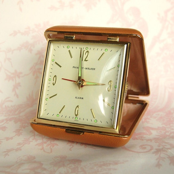 Vintage 1960 S Travel Alarm Clock By Phinney Walker